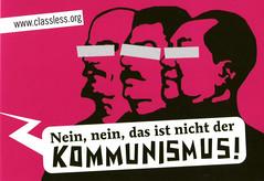 Nein nein, das ist nicht der Kommunismus! (Aufkleber pink)