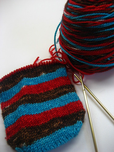 Meteor Striping Socks WIP