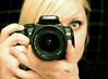 I Spy With My Little Eye (victoria.anne) Tags: camera black eye me mirror hands fingers blonde mylove xti hernameischarley