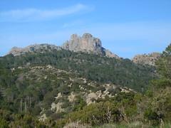 Punta Furcuta (et ses voies d'escalade ?) depuis Bocca di Tonnari