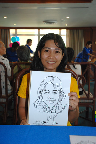 Caricature live sketching Temasek Fun Day 8