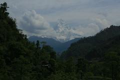 Machupichare, or Fishtail mountain (pauljaquin) Tags: nepal mountain flickr fishtail