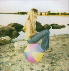 (ChristinaBrown) Tags: summer beach beautiful ball polaroid cool rocks pretty cam josie jeans 600 blonde salemma