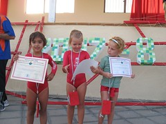 Olaya, Brit and Gabs showing their Certificates (John Beckley) Tags: gymnastics tenerife gabriella piedrahincada