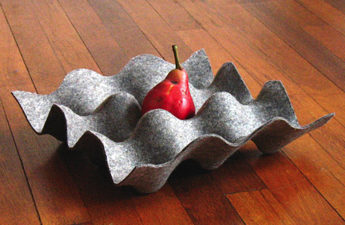 felted egg crate