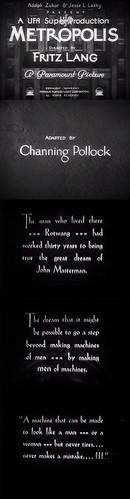 Intertítulos de la versión adaptada por Channing Pollock