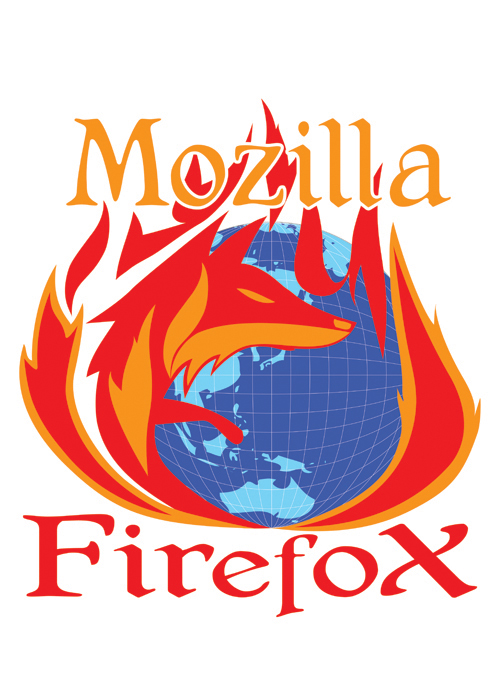 Coloured final firefox logo