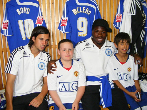 Jordan and Otto with George Boyd and Aaron Mclean