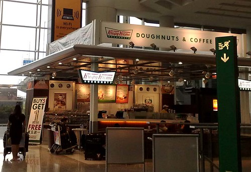 Hong Kong - Krispy Kreme outlet at airport