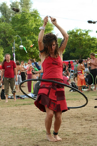 Hula loop woman