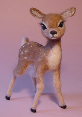 Needle Felted Baby Deer - Adara (Zada Creations) Tags: sculpture art wool felted handmade deer fawn needle needlefelting fiberart creations zada needlefelted woolsculpture zadacreations