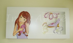 quadro teen sapato (Imer atelie) Tags: pink flores branco quadro teen moa quarto menina decorao parede mdf sapato lilas bolsinha nichos atelie imer pinutra