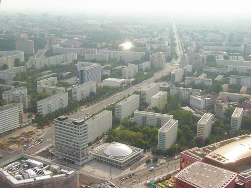 el centro de Berlín desde el aire