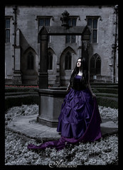 """""""She walks in beauty, like the night"""" (fracture242) Tags: dark poetry gothic goth fairy romantic byron tale ballgown"""