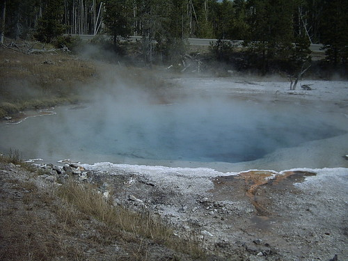 Pool in a thermal area