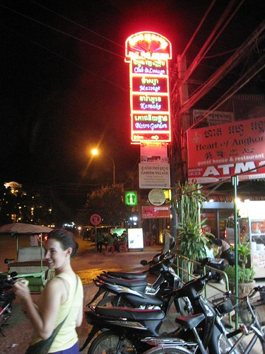Alice and the bright lights of Siem Reap