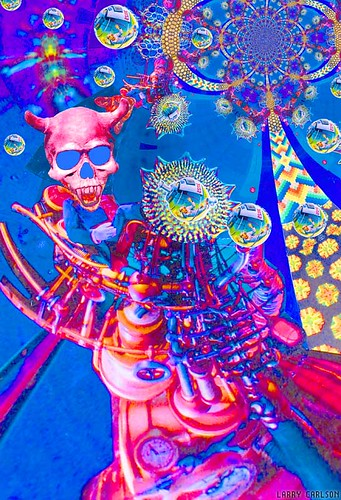 LARRY CARLSON, Skull Rrdr, digital chromogenic print, 26x22in., 2007.