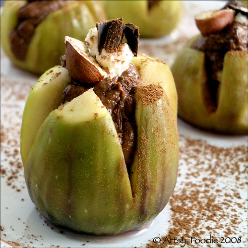 Chocolate Hazelnut Stuffed Figs