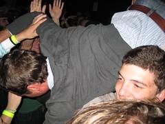 "The Rock Roll Star aka ""Steve"" crowd surfing"