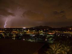 Lightning strike (zeesstof) Tags: travel arizona usa weather night dark nightshot timeexposure thunderstorm scottsdale lightning afterdark westinkierlandresort arizonathunderstorms zeesstof