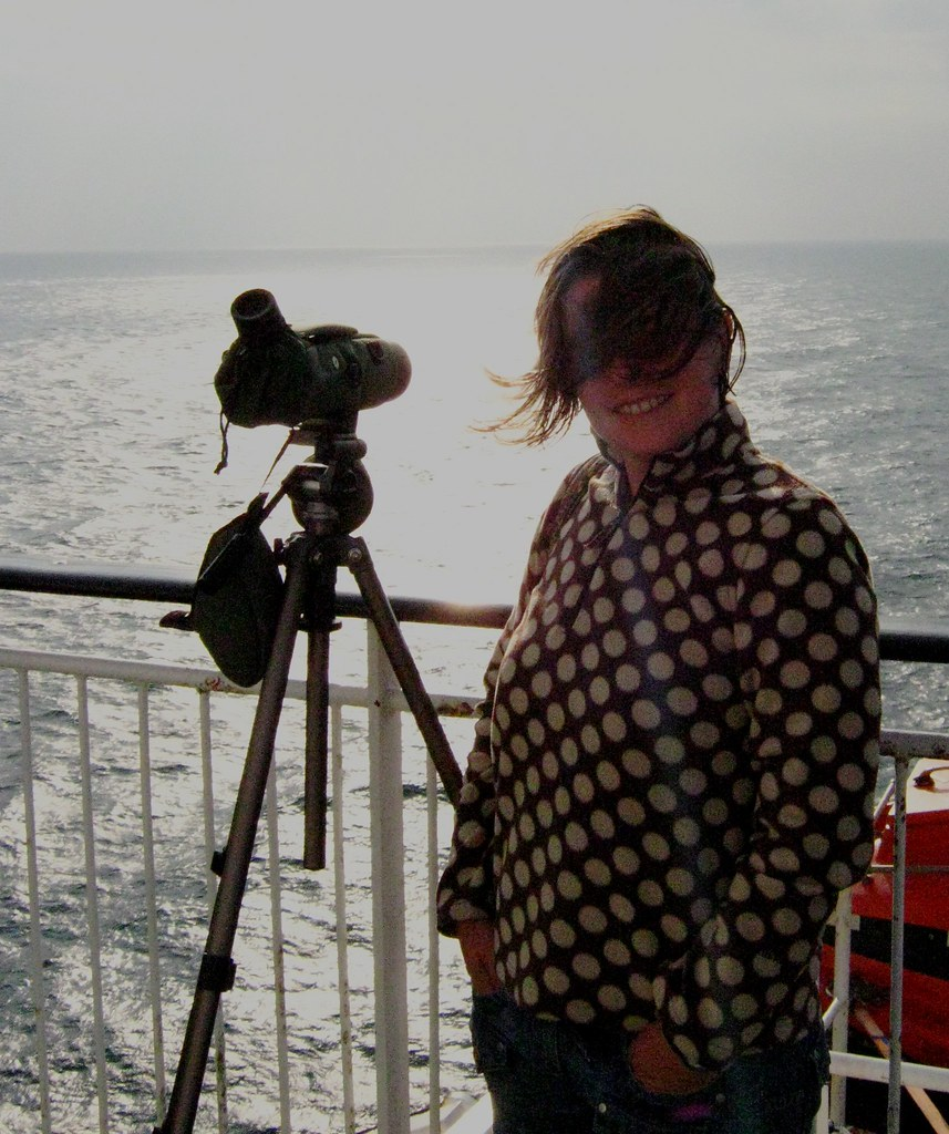 a windy moment on the whale watch
