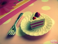 Good morning Flickr members ^^ (pinkyia) Tags: pink cake fake fork polka dot unreal roro polkadot internationalfood myphotobook aplusphoto colourartaward excapture llovemypics colorsinourworld pinkyia pinkroro