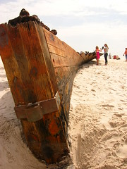 confederate battleship monticello shipwreck washed ashore during Hurricane Ike (us1mm0) Tags: hurricane alabama confederate shipwreck ike monticello gulfshores fortmorgan