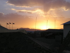 Sunset in Ghazni PRT (rybolov) Tags: afghanistan ghazni