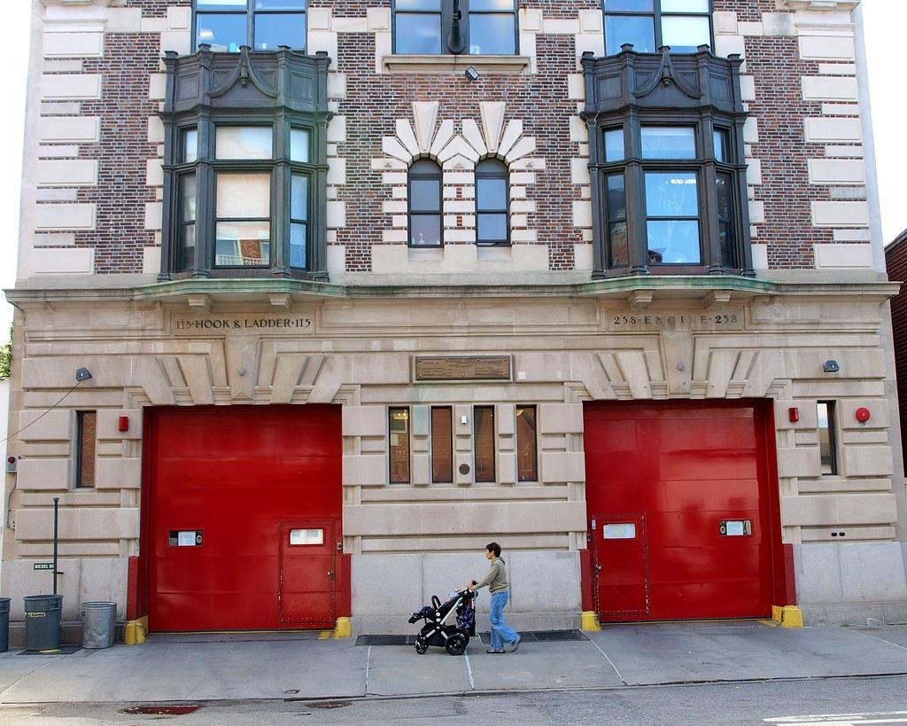 E258 FDNY Firehouse Engine 258 & Ladder 115, Long Island City, Queens, New York City