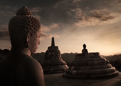 Buddha statue at Borobudur temple, Java, Indonesia (Eric Lafforgue) Tags: statue indonesia java ruins bell head buddha bouddha unesco indonesie borobudur indonesi indonesien cloche worldheritage borobodur  indonsie  indonezja lafforgue indoneesia   endonezya indonezija  beteille   indonzia indonezia indnesa  indonzija indonezio indoneziya indonisa