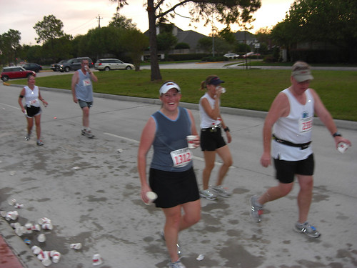 Running my 5 miles of the 10-miler relay