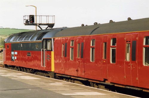 Travelling Post Office, Rail Express Systems Class 47, The Great West TPO UP,Penzance May 1992
