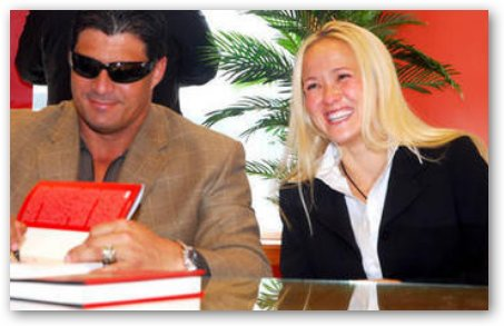 Heidi Northcott and Jose Canseco at Book Signing