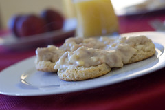 Biscuits and Egg Gravy