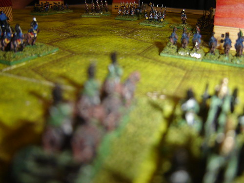 Horse Artillery pounds French square