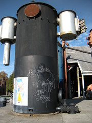 Machinery with graffiti, Gas Works Park, Seattle