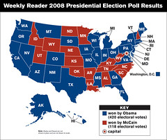 Weekly Reader Election Map