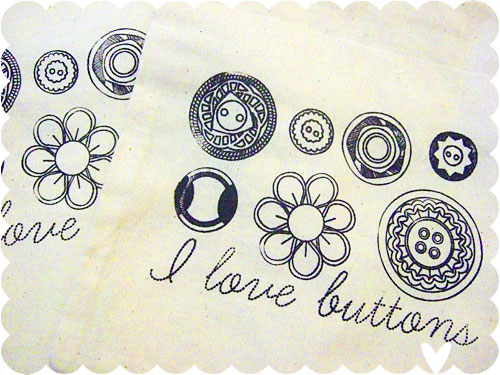 I Love Buttons bags