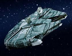 Millenium Falcon Origami