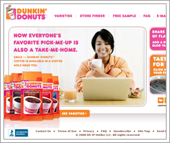 Dunkin Donuts offering free samples from the Quicken Loans blog