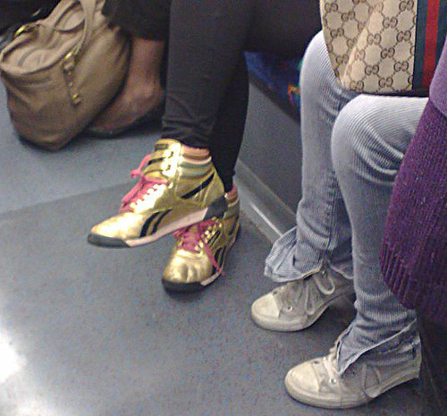 Super Gold trainers by Pete frm the Londoneer