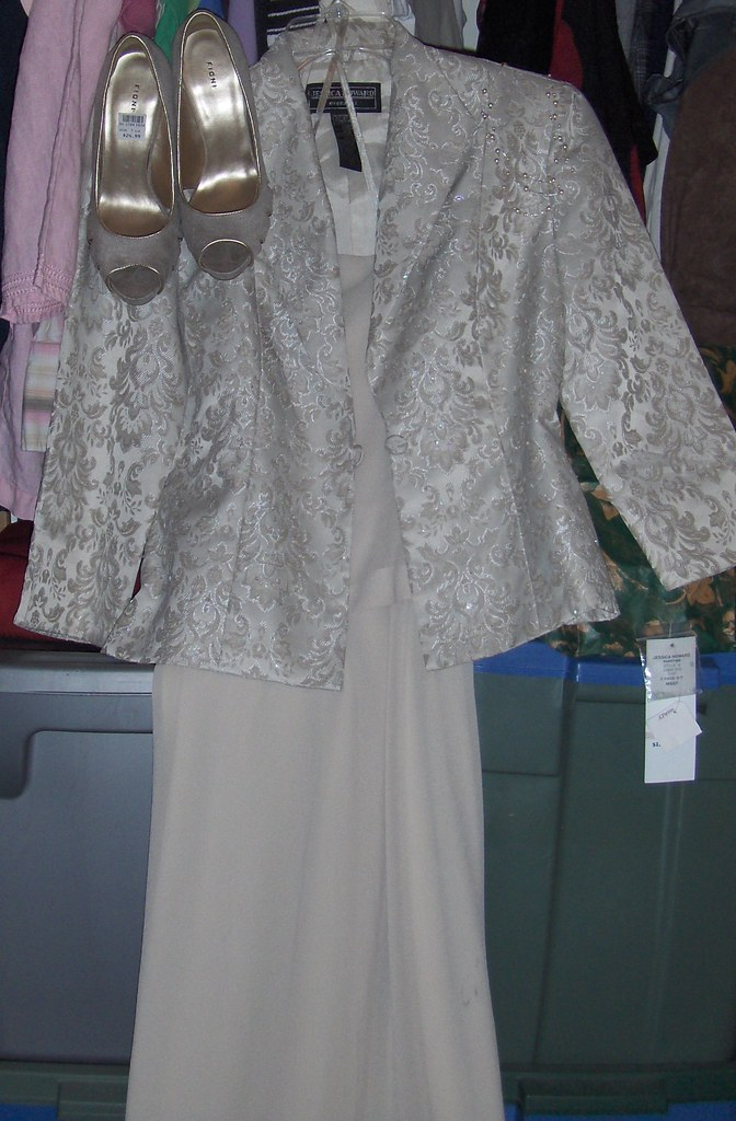 Ivory Gold Dress