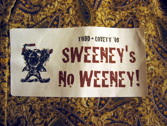 Sweeney Sticker (Click to enlarge)