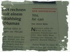Die WAZ würde Barack Obama wählen