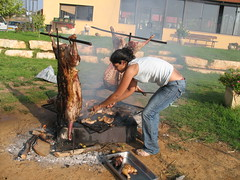 Not a sight for a vegetarian#2 (blind_donkey) Tags: israel sheep meat asado primal ramathasharon picknic