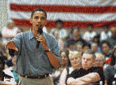 Obama in Iowa Mosaic