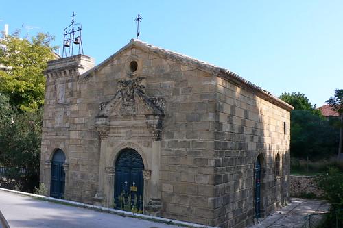 Church beside Romas Mansion