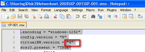 VMWare-Workstation-hwversion