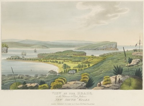 View of the heads at the entrance to Port Jackson New South Wales  1824 (Joseph Lycett)
