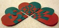 Christmas Hearts (ebygomm) Tags: christmas red green paper heart danish woven julehjerter